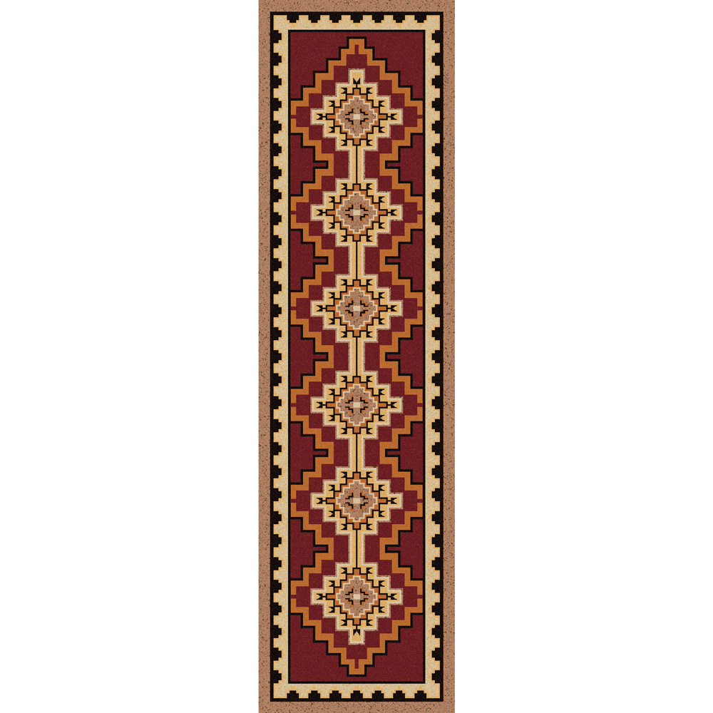 Council Fire Southwestern Rug - 2 x 8
