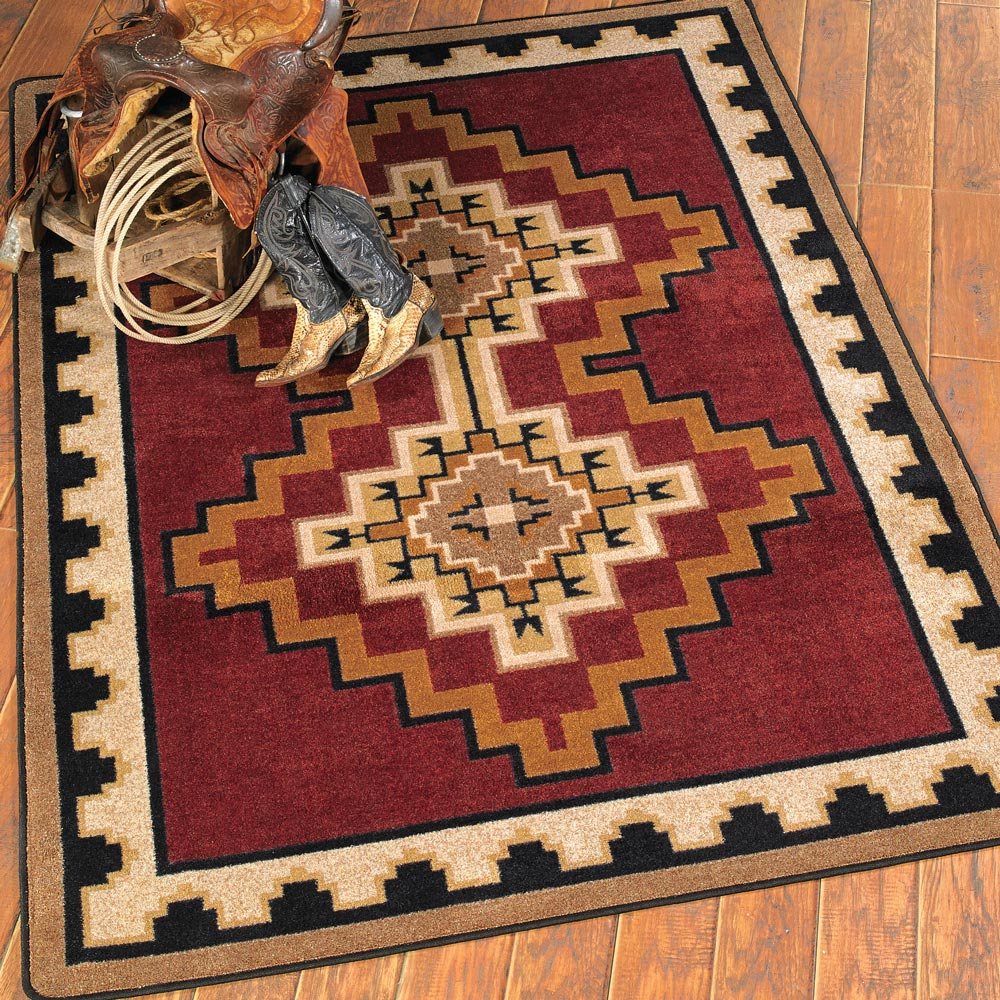 Council Fire Southwestern Rug - 3 x 4