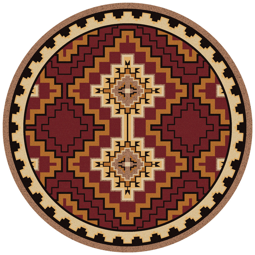 Council Fire Southwestern Rug - 8 Ft. Round