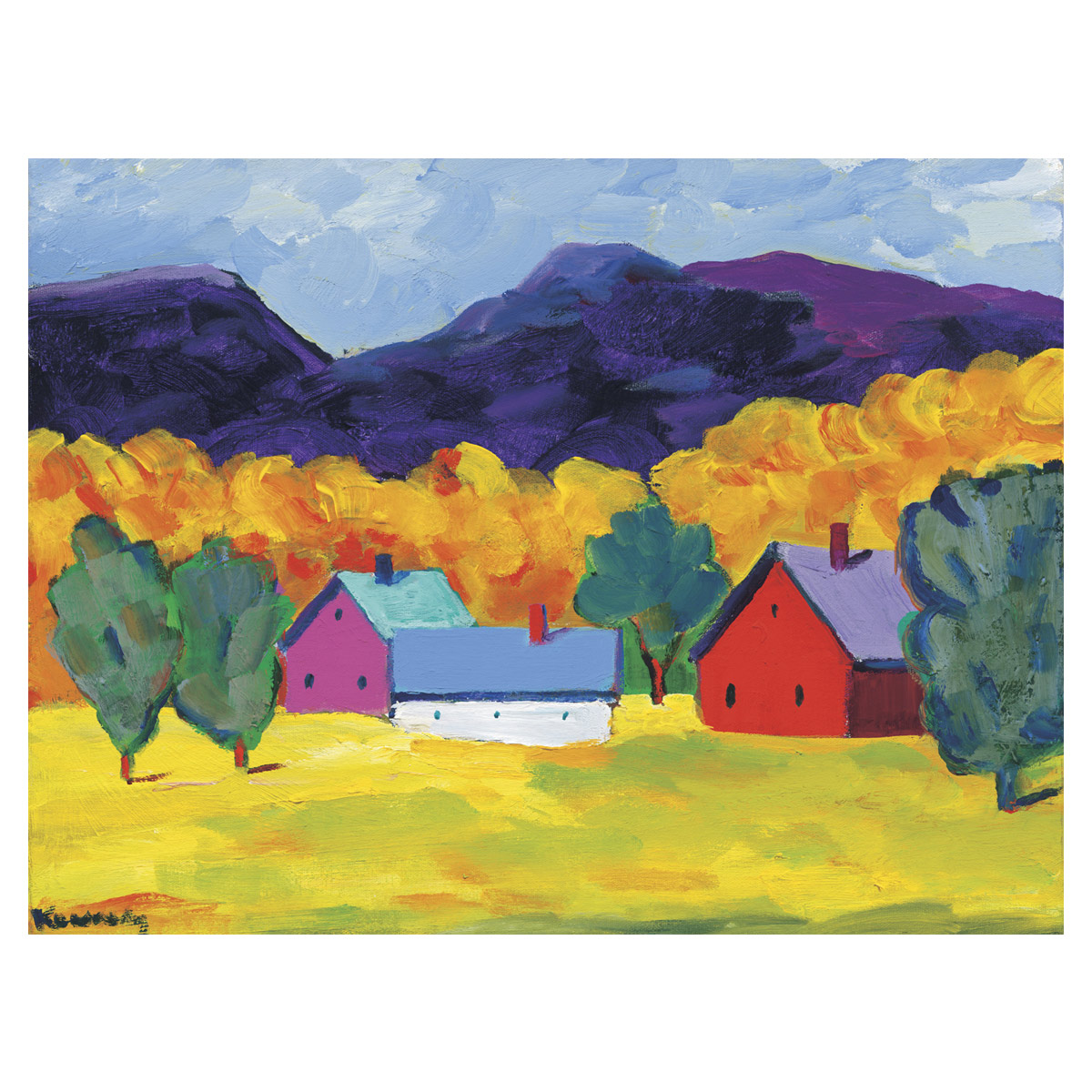 Country Barns Canvas Art
