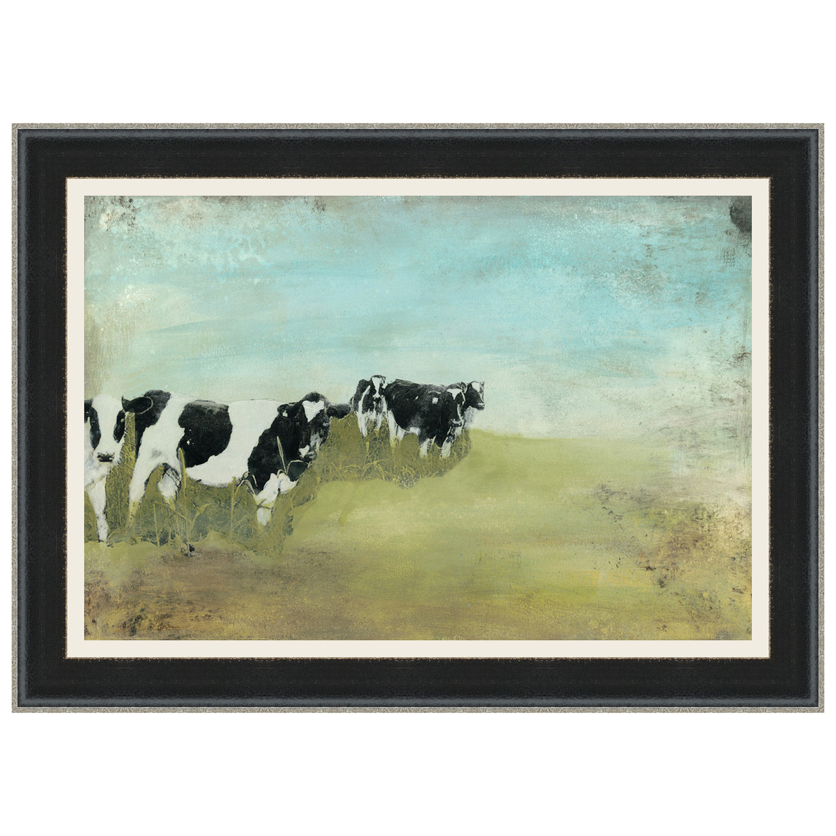 Country Drive Cows II Framed Print