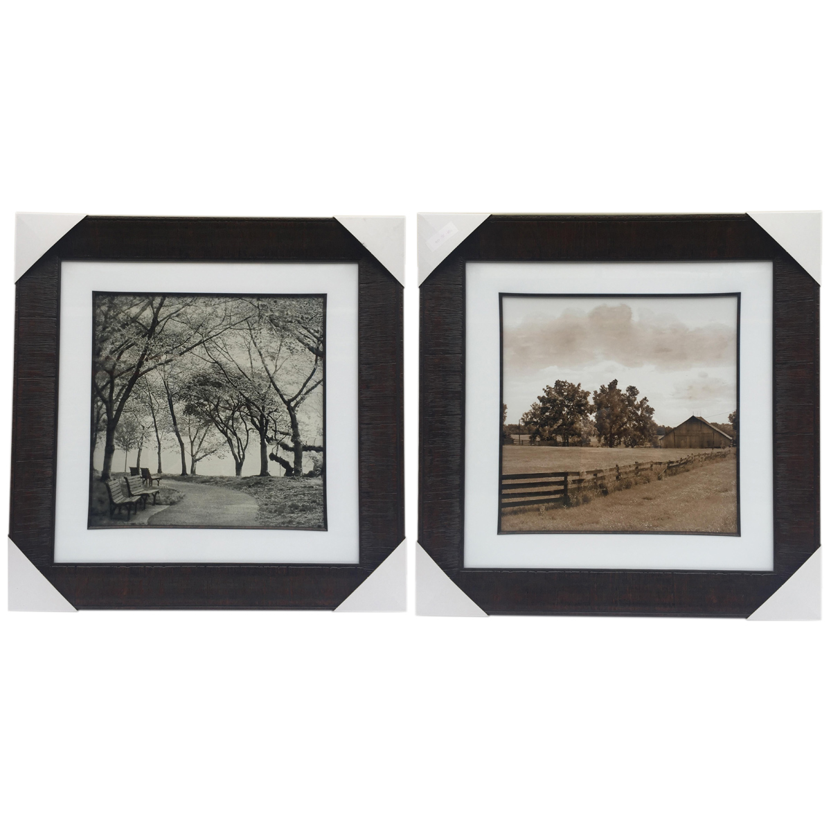 Country Life Framed Wall Art - Set of 2
