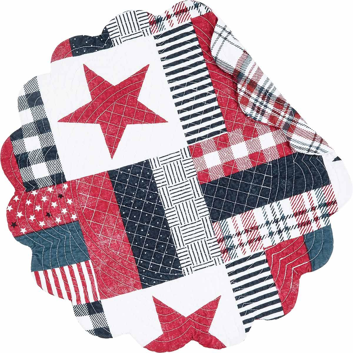 Country Picnic Reversible Round Placemats - Set of 6
