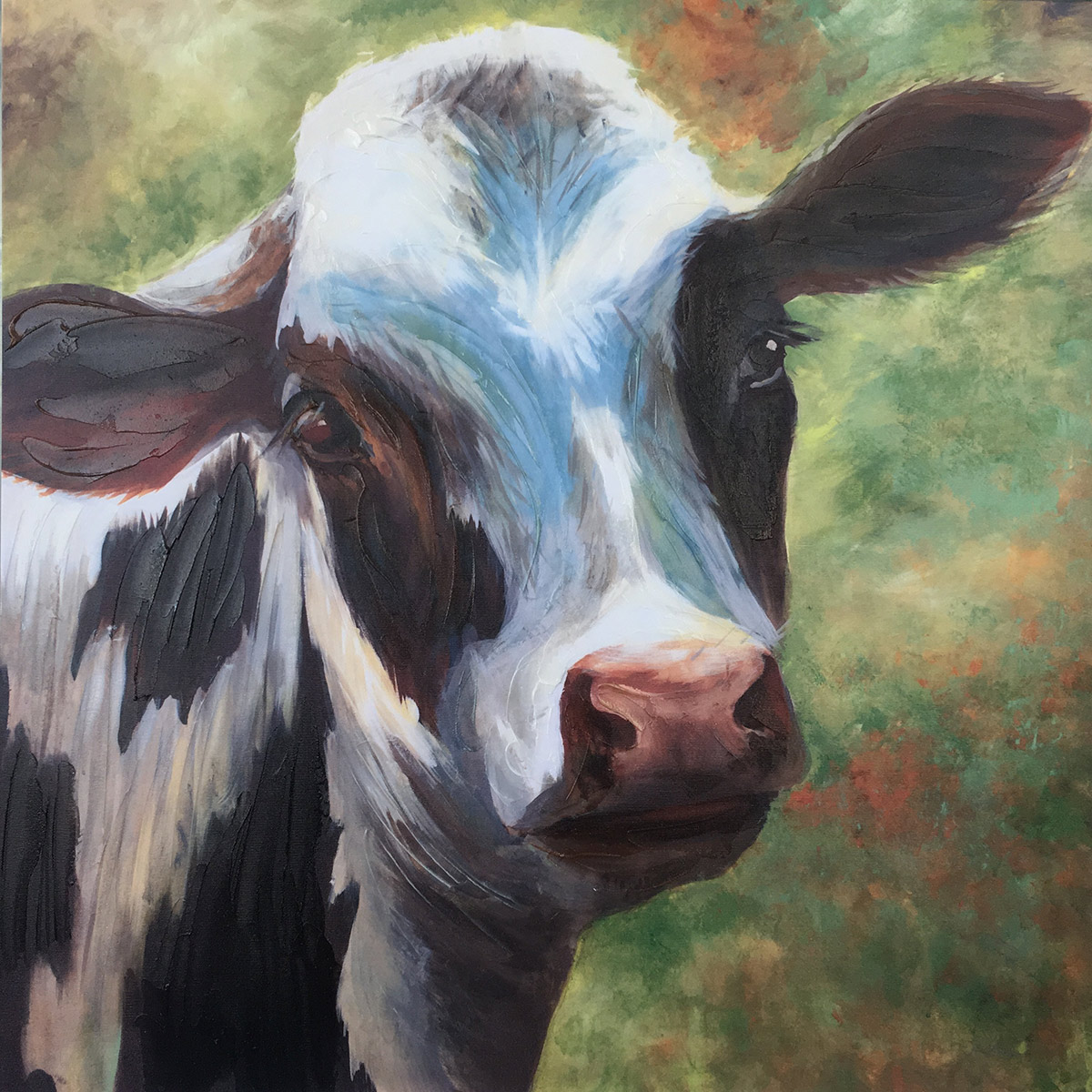 Cow Beauty Canvas Wall Art