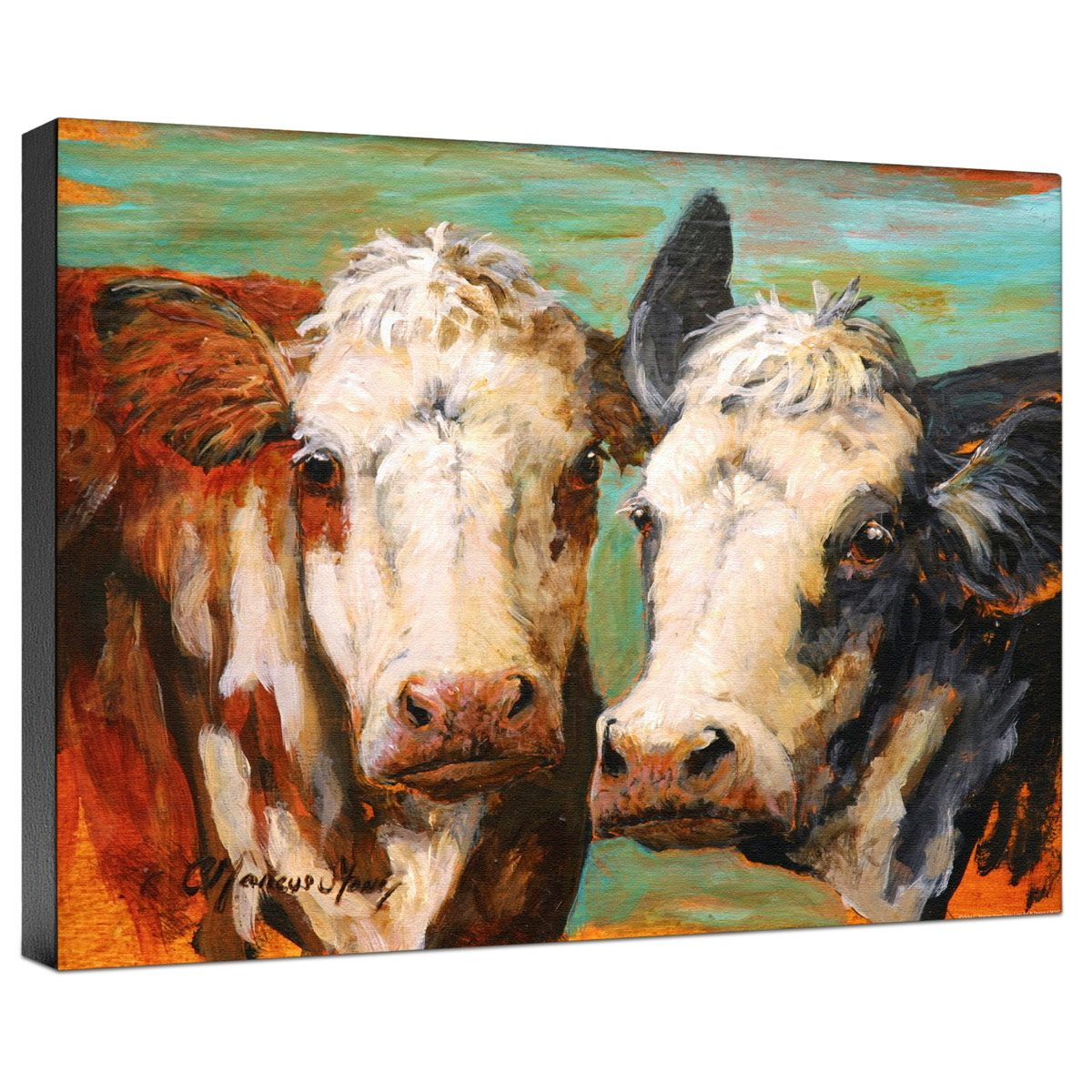 Cow Pair Gallery Wrapped Canvas