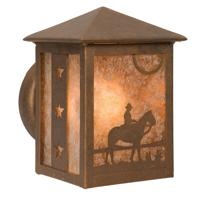 Cowboy at Sunset Small Peaked Sconce