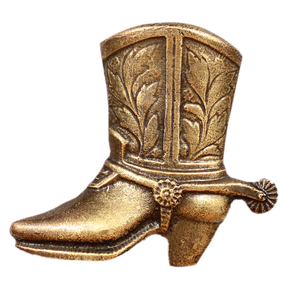 Cowboy Boot Cabinet Pull - Left Facing