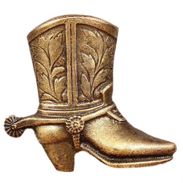 Cowboy Boot Cabinet Pull - Right Facing
