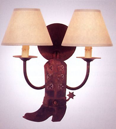 Cowboy Boot Double Wall Sconce
