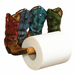 Cowboy Boot Toilet Paper Holder