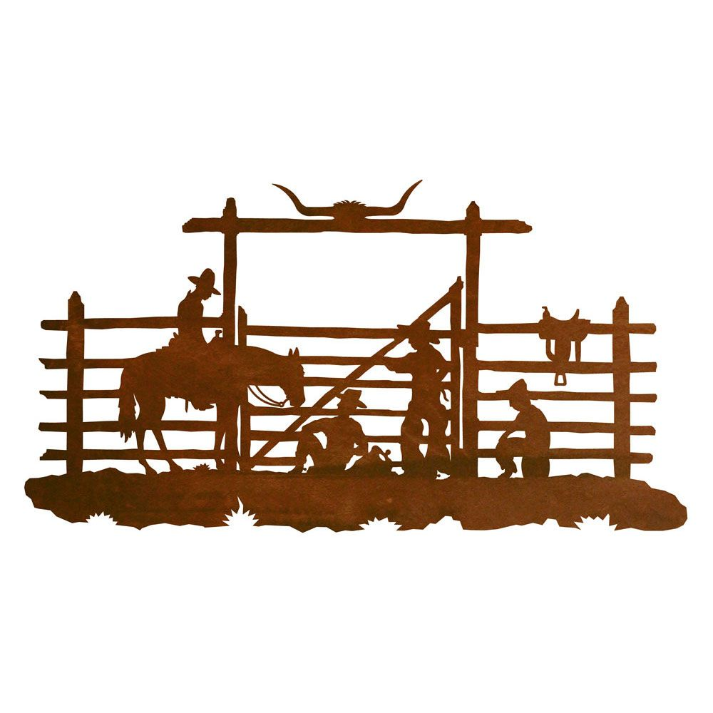 Cowboy Corral Metal Wall Art