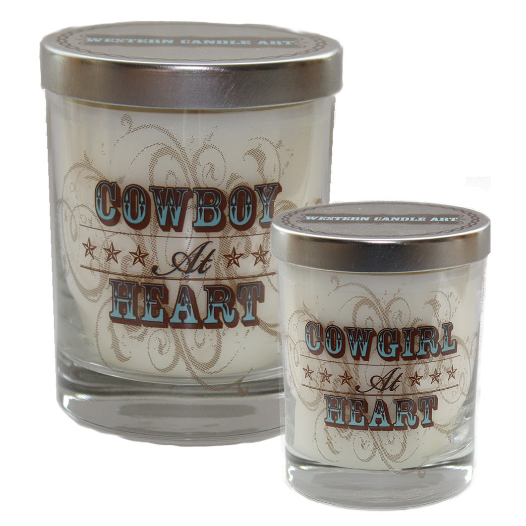 Cowboy/Cowgirl at Heart Glass Candle