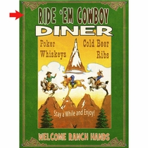 Cowboy Diner Personalized Sign - 28 x 38
