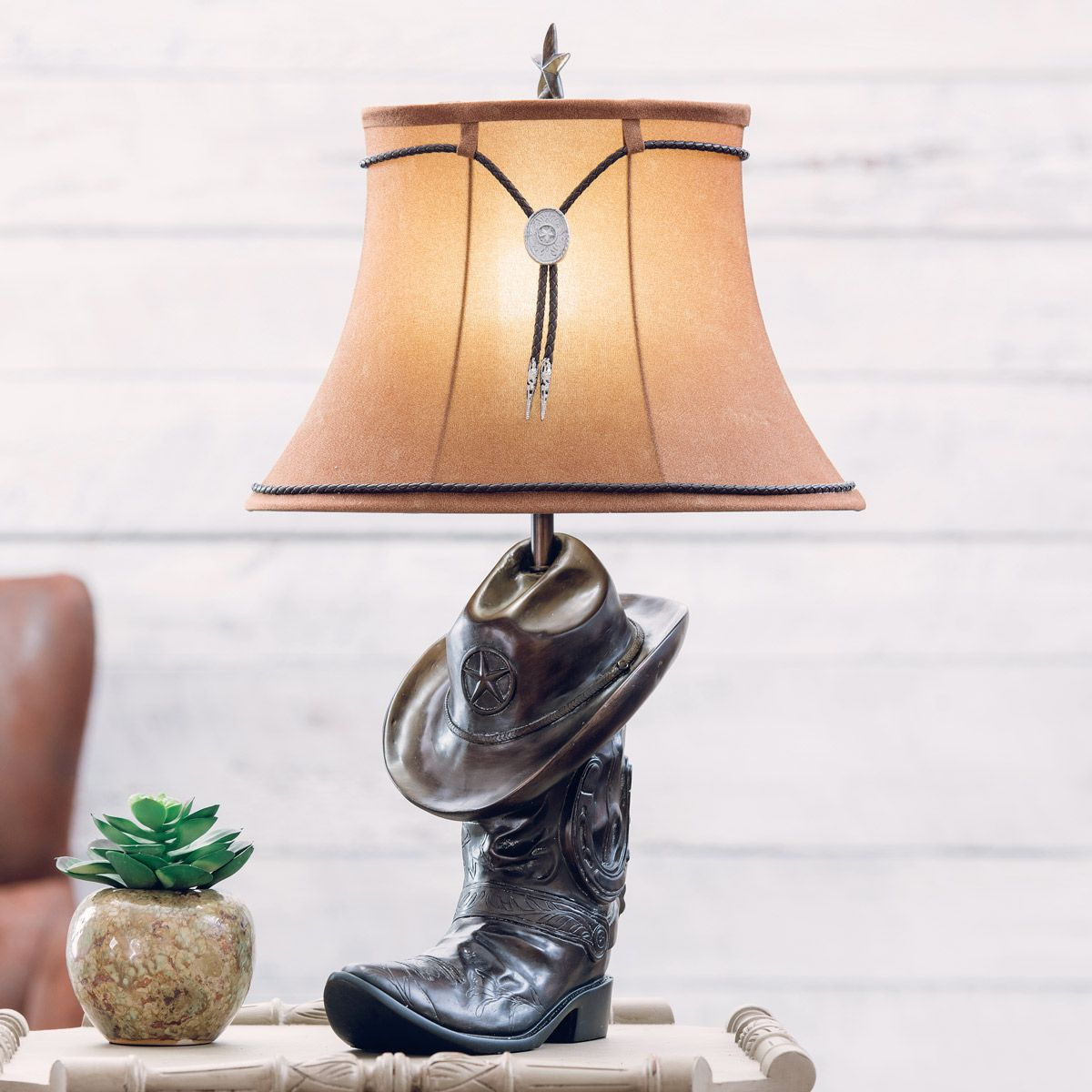 Cowboy Hat & Boot Table Lamp