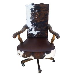Cowboy King Cowhide Office Chair - Tall