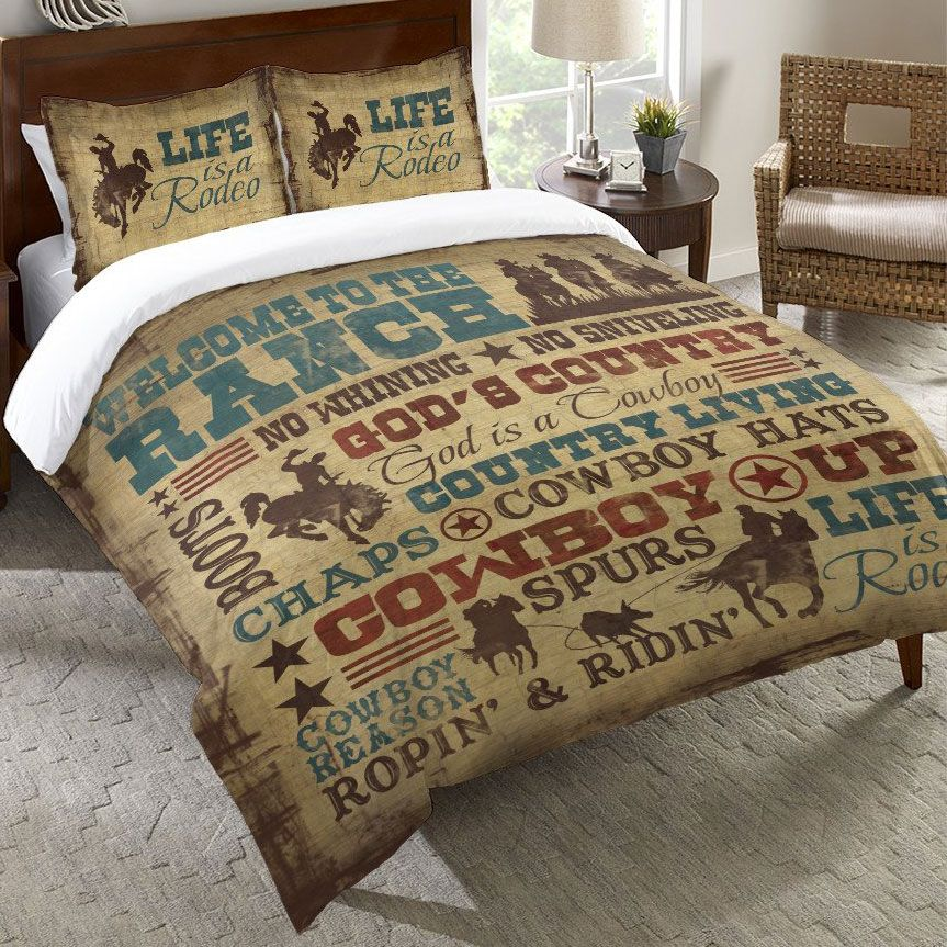 Cowboy Lifestyle Duvet Cover - Twin