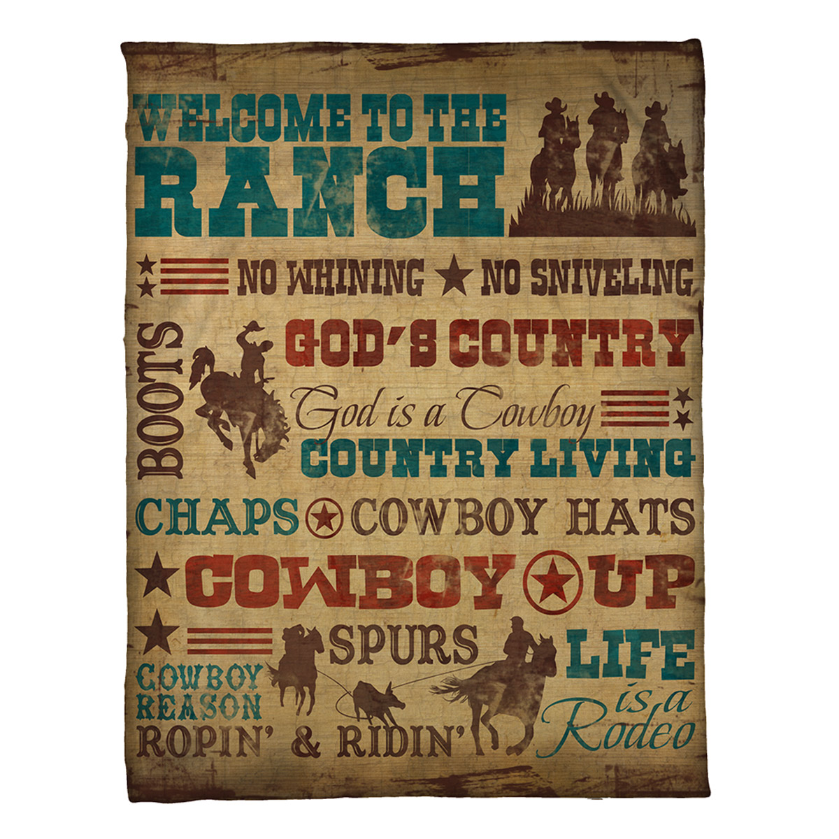 Cowboy Lifestyle Fleece Throw