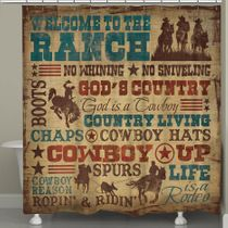 Cowboy Lifestyle Shower Curtain