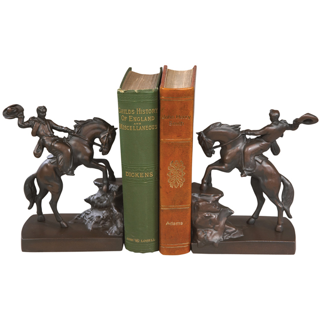 Cowboy on Horse Bookends - Set of 2