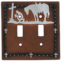 Cowboy Prayer Double Switch Cover