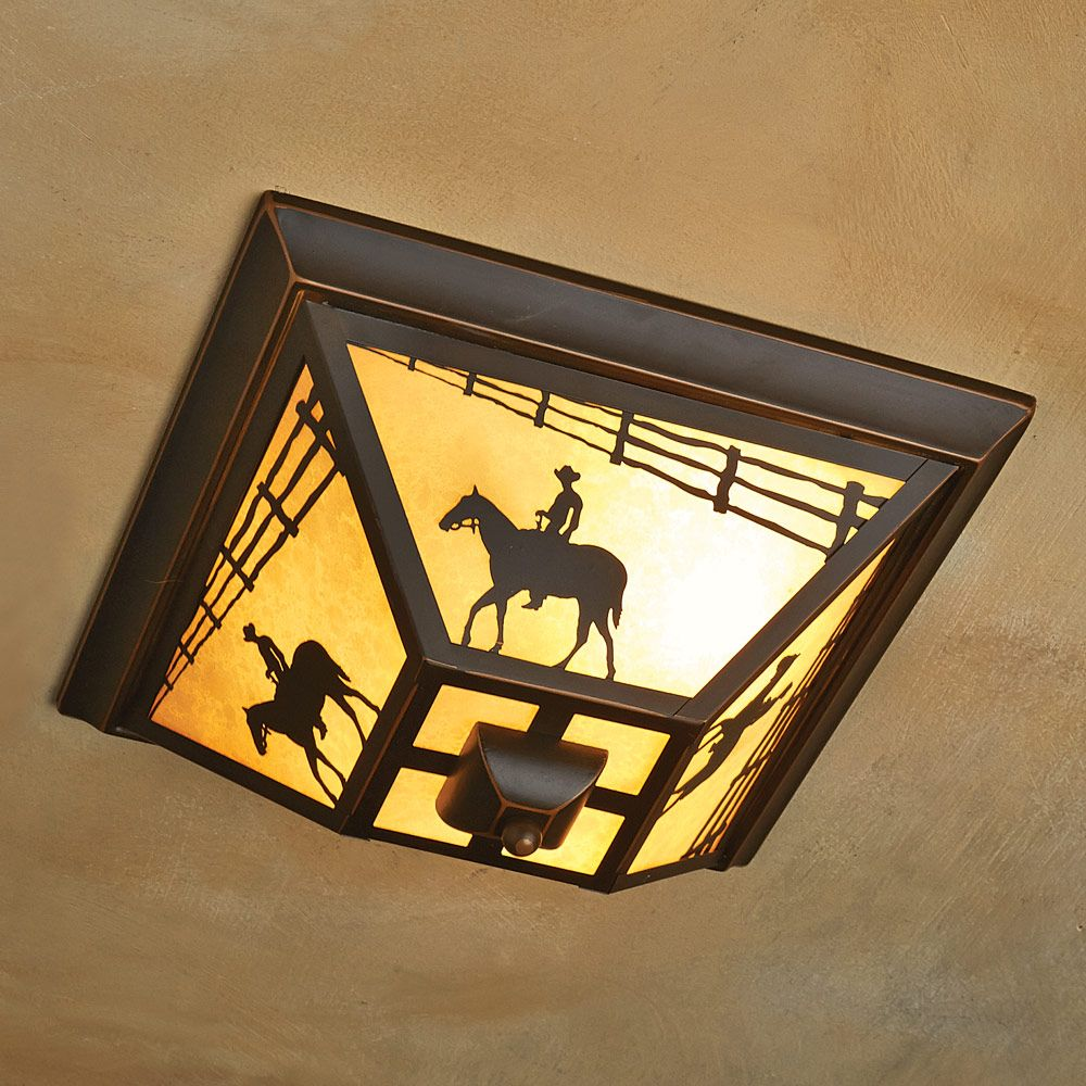 Cowboy Rider Flush Mount Ceiling Light