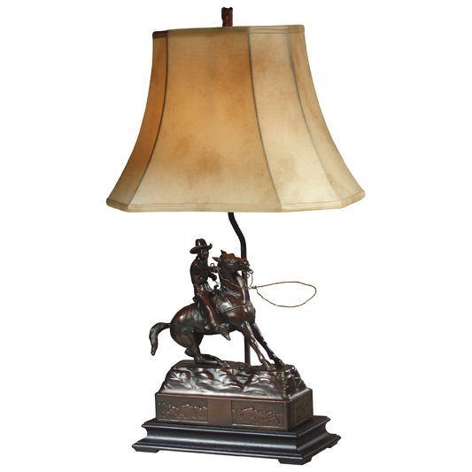 Cowboy Roper Table Lamp