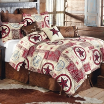 Cowboy Star Western Bed Set - King