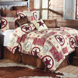 Cowboy Star Western Bed Set - Queen - CLEARANCE
