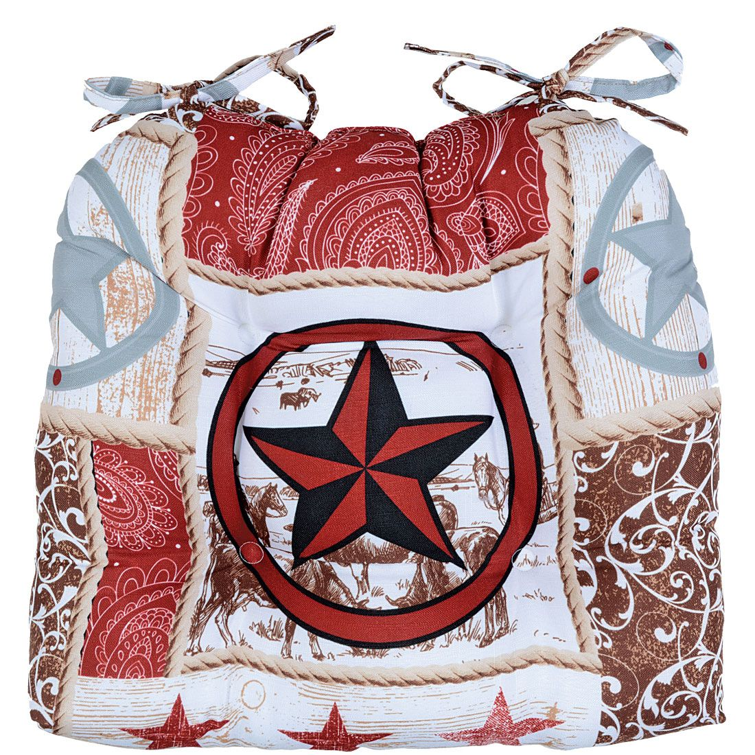 Cowboy Star Western Chair Pad