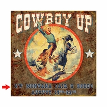 Cowboy Up Personalized Sign - 28 x 28