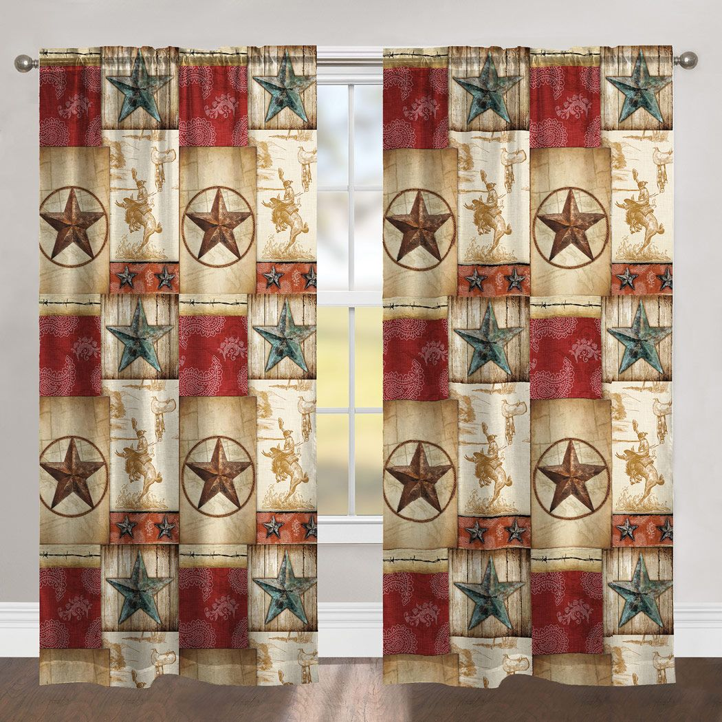 Cowboy Way Blackout Drapes - Set of 2 - OVERSTOCK