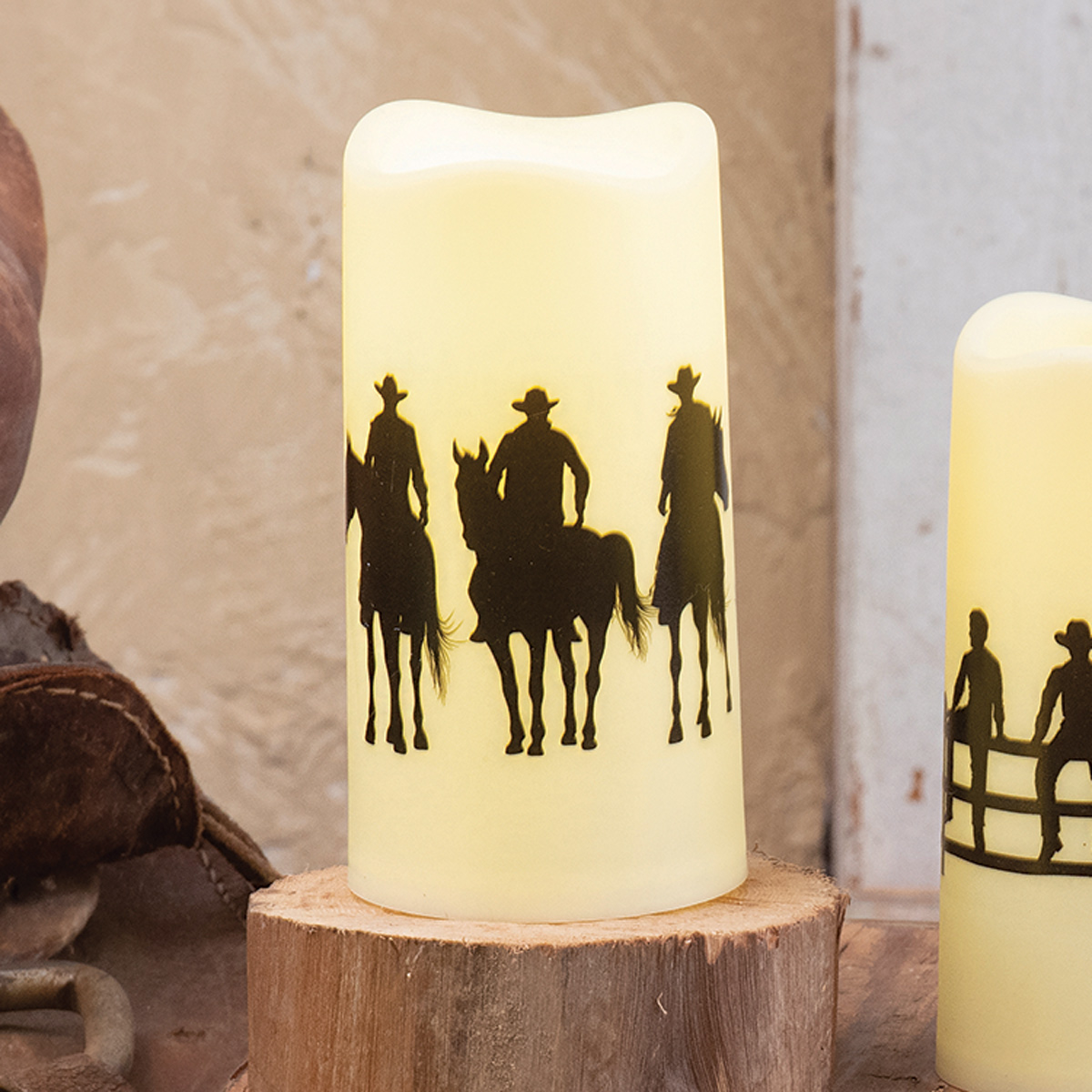 Cowboy Way LED Candle