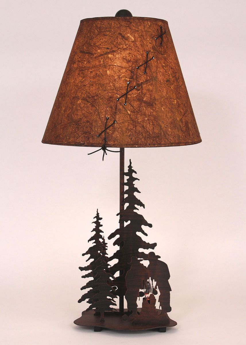 Cowboys at Campfire Table Lamp - Small