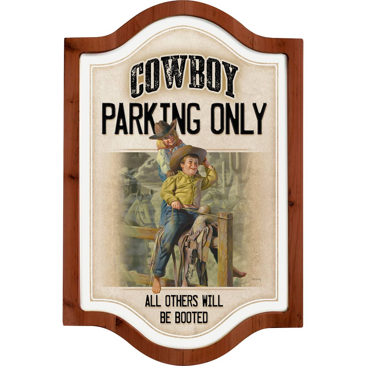 Cowboys Only Framed Metal Sign