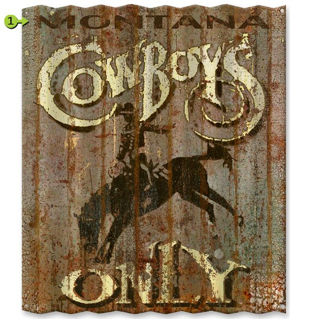 Cowboys Only Personalized Corrugated Metal Sign