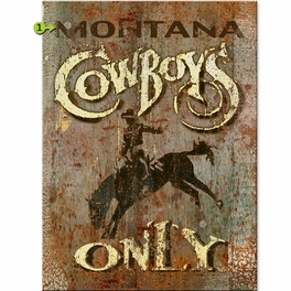 Cowboys Only Personalized Sign - 28 x 38