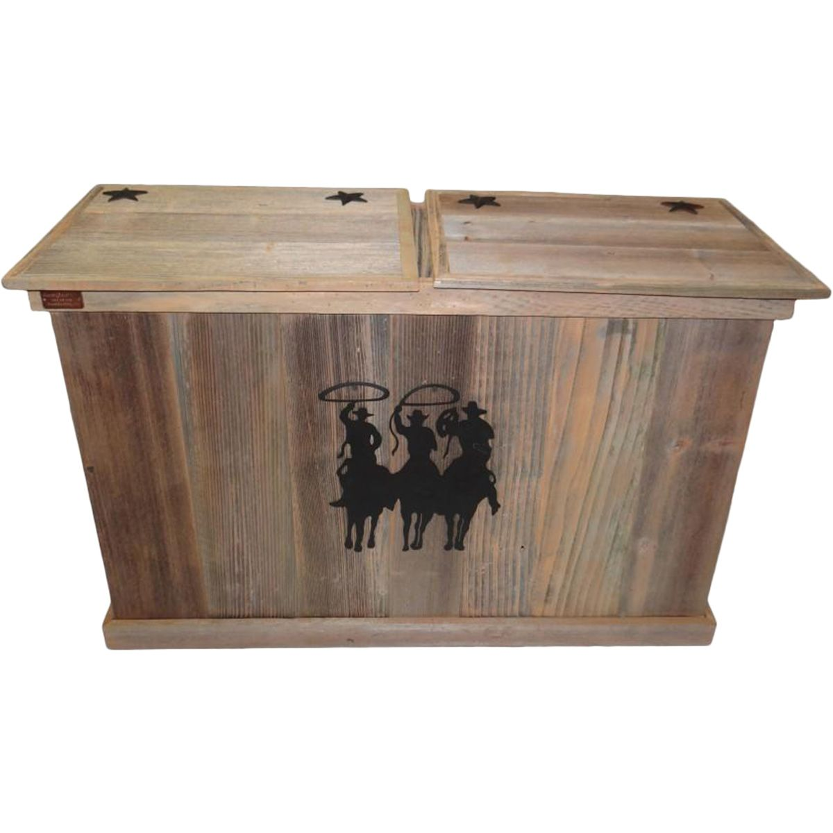 Cowboys Trash & Recycling Container