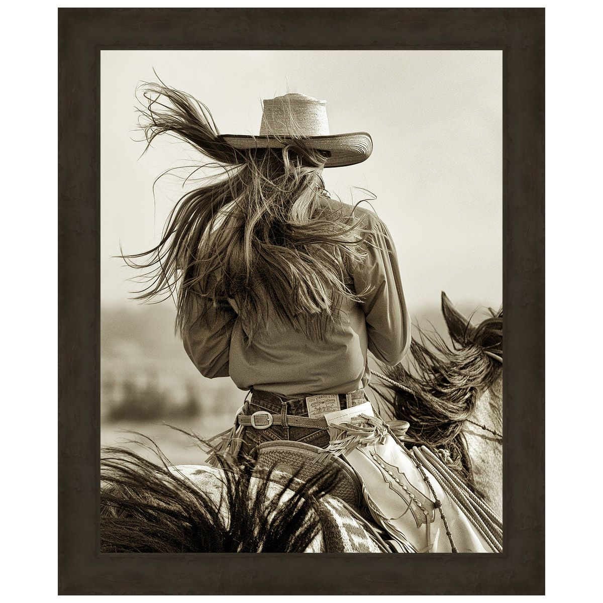 Cowgirl Framed Canvas