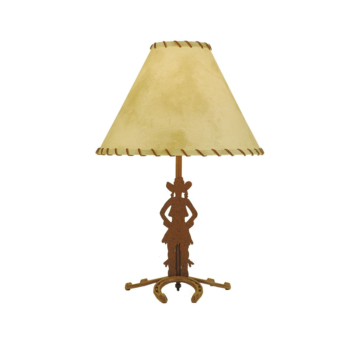 Cowgirl Horseshoe Table Lamp