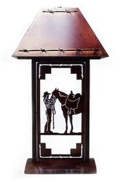 Cowgirl Table Lamp