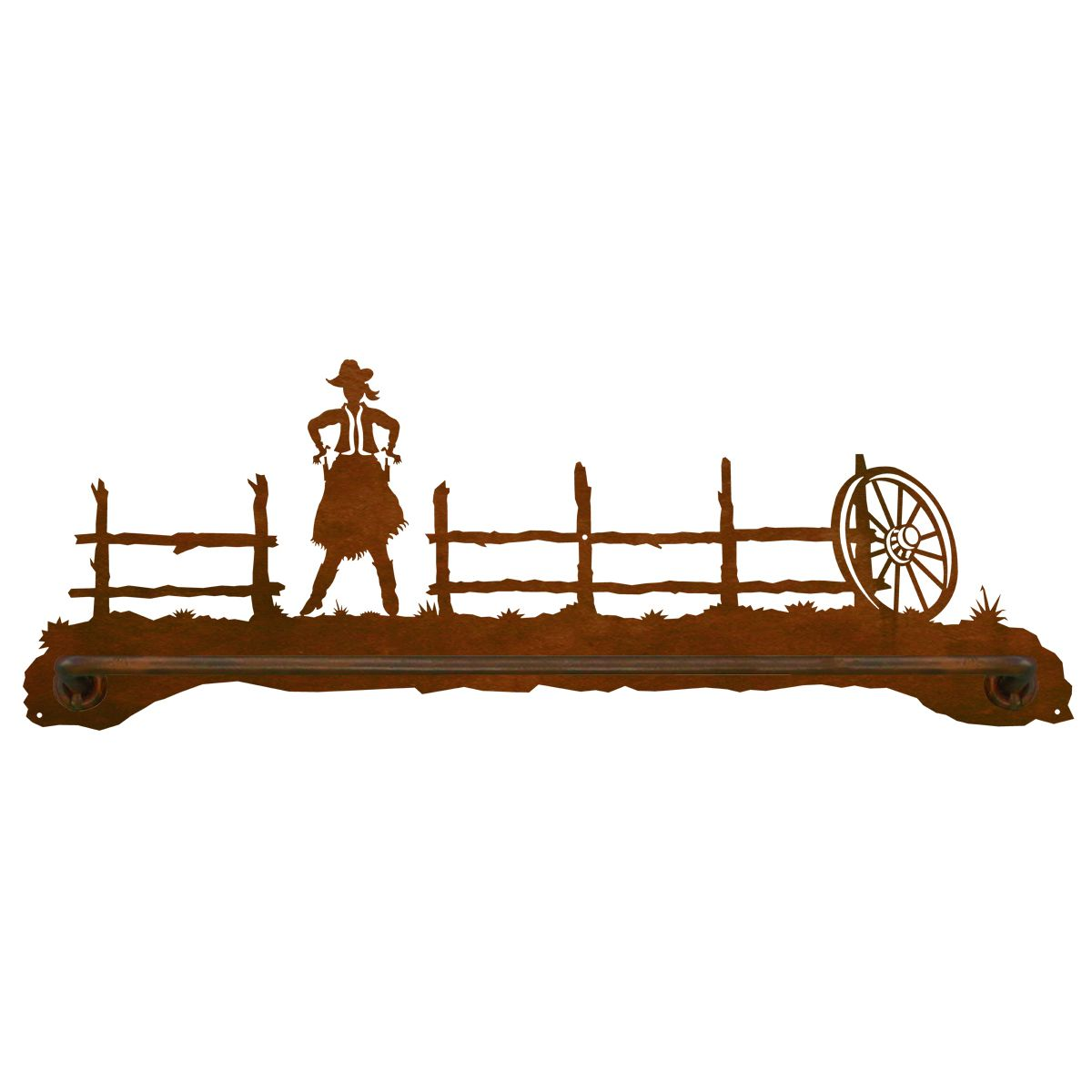 Cowgirl Towel Bar - 27 Inch