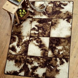 Cowhide Cubed Rug Collection