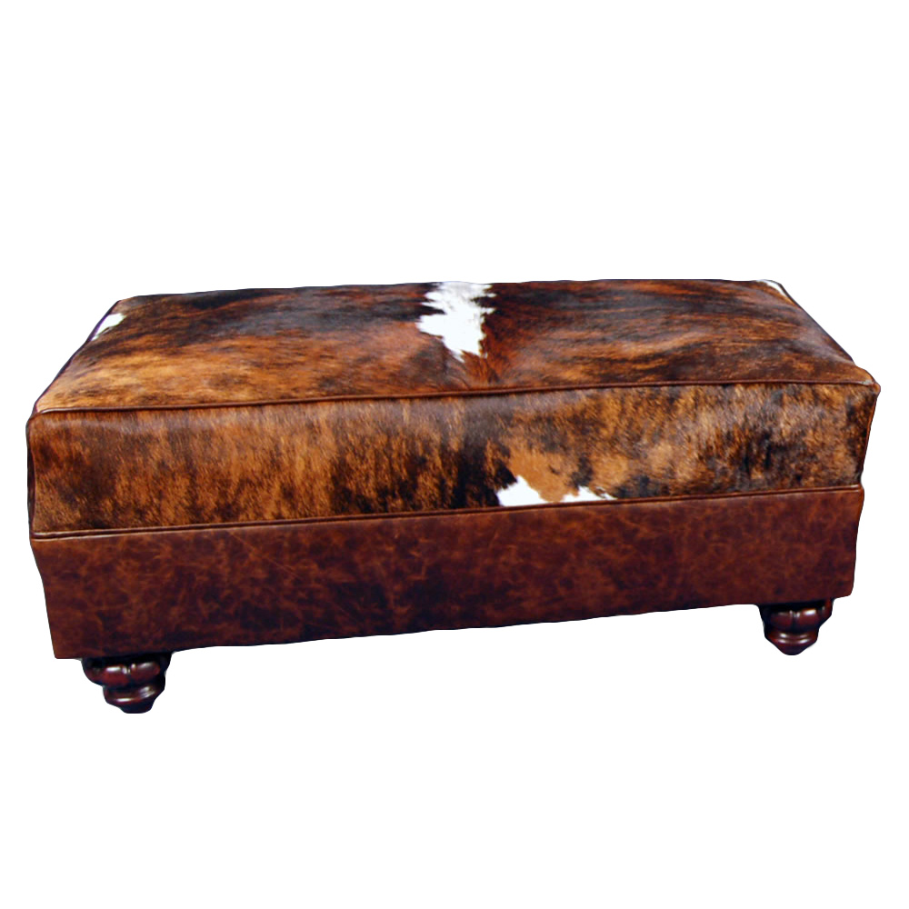 Cowhide Large Ottoman
