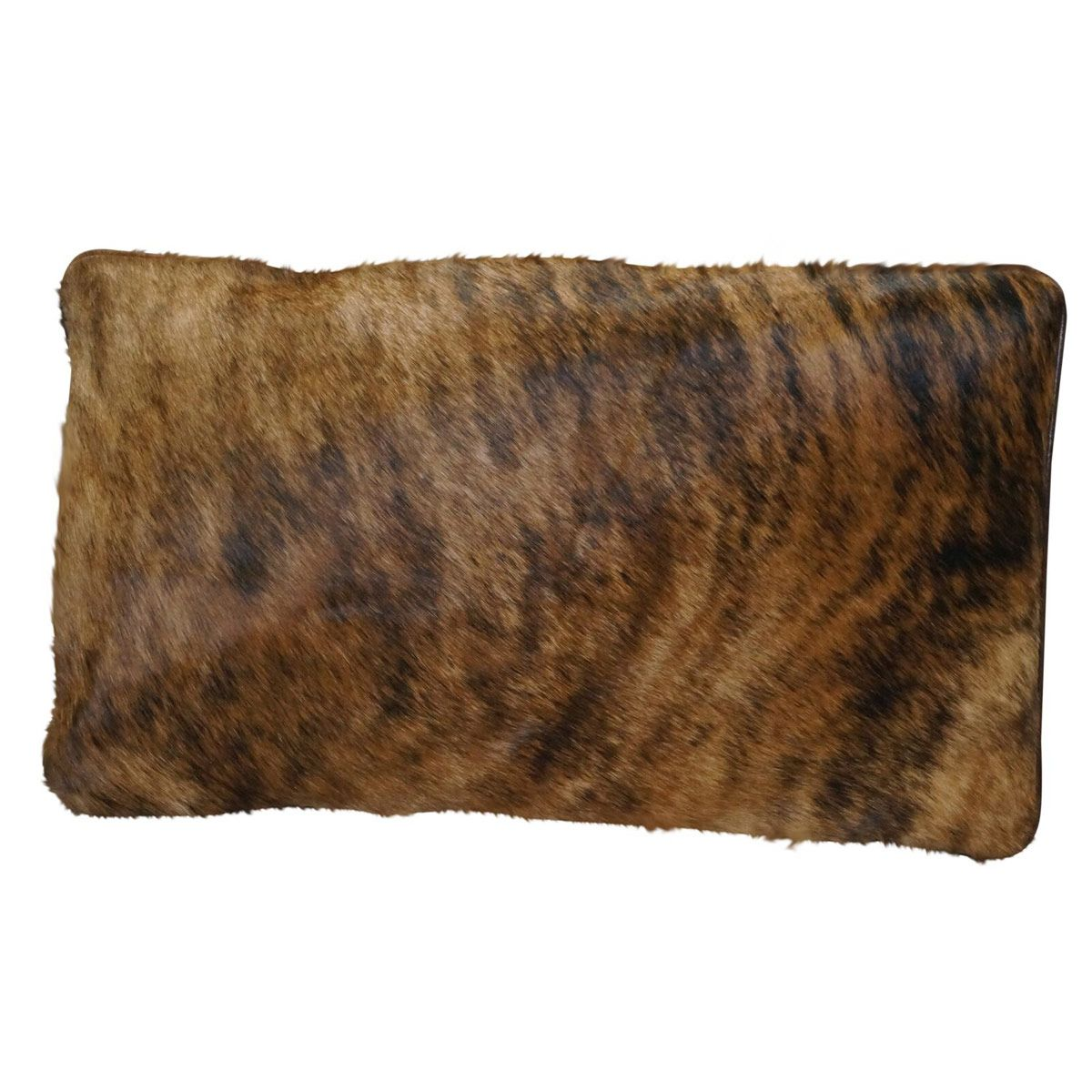 Cowhide Lumbar Pillow - Dark Brindle