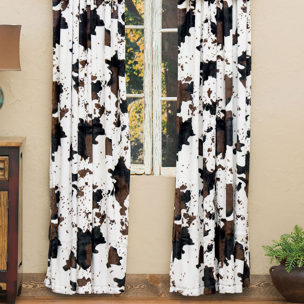 Cowhide Plush Drapes