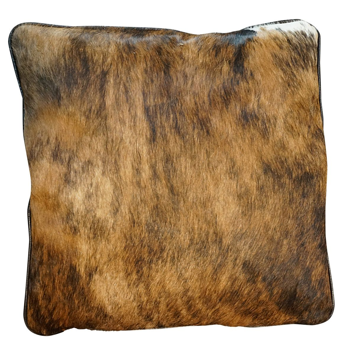 Cowhide Square Pillow - Dark Brindle
