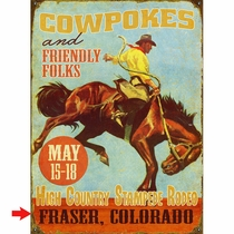 Cowpokes Personalized Sign - 28 x 38