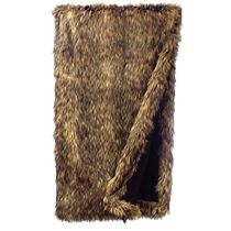 Coyote Faux Fur Throw - OVERSTOCK