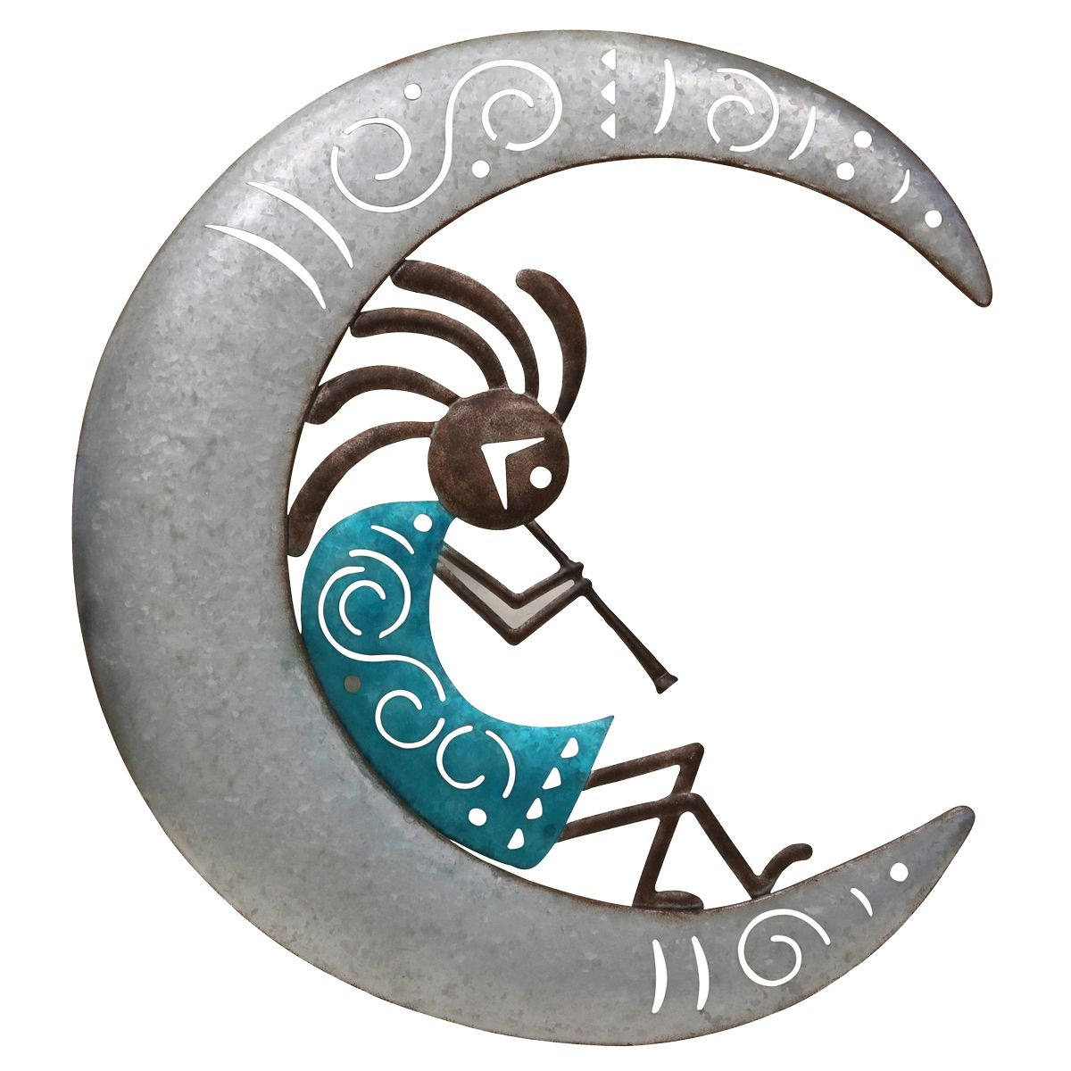 Crescent Moon Kokopelli Wall Art