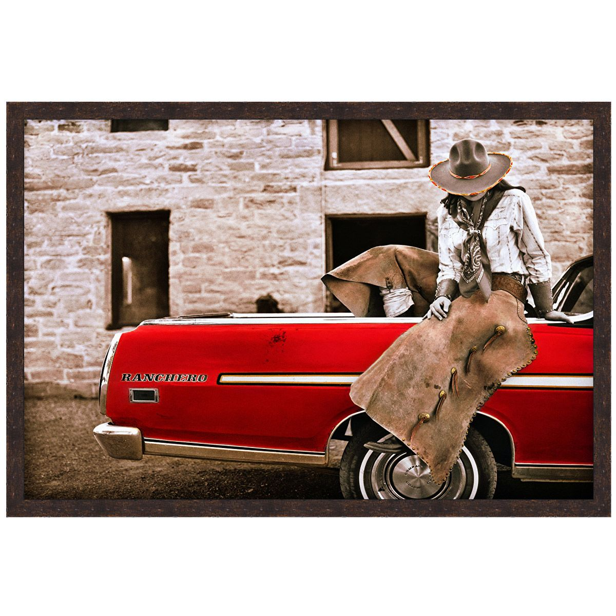 Crimson Cowgirl Canvas Art - 26 x 18